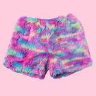 Eco Fur Fluffy Shorts - Bright Pinks